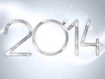Счастливые предпосылка Нового Года 2014 серебряная Стоковое Фото