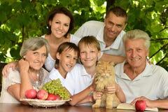 Счастливые родители и дети Стоковая Фотография RF