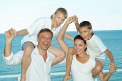 Счастливые родители с их дет Стоковое фото RF
