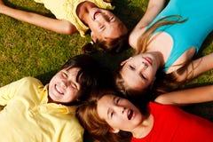 Счастливые друзья Стоковая Фотография