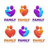 Счастливые семья, люди, человек, женщина, дети и счастье иллюстрация вектора