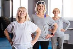 Счастливые старшие женщины разрабатывая совместно Стоковое Изображение