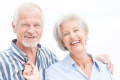Счастливые старшие пары Стоковое Фото