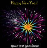 Счастливые фейерверки Нового Года Стоковое фото RF