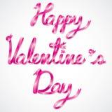 Счастливые формулировки дня валентинки Стоковые Изображения RF