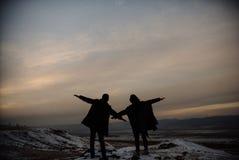 счастливые любовники стоковая фотография