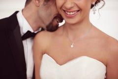Счастливые Bridal пары Стоковая Фотография