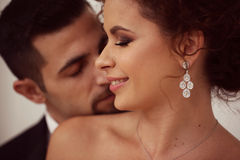 Счастливые Bridal пары Стоковое Изображение RF