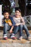 Счастливый азиатский ребенок радостный Стоковые Фотографии RF