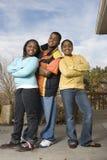 Счастливый Афро-американский усмехаться брата и сестер Стоковое Изображение