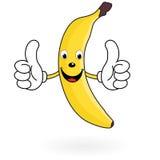 Счастливый банан шаржа Стоковое Изображение