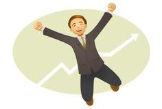 Счастливый бизнесмен иллюстрация штока