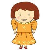 Счастливый вектор девушки Стоковое Изображение
