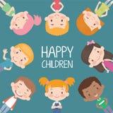 Счастливый вектор детей Стоковая Фотография