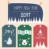 Счастливый вектор карточки Нового Года Стоковые Фото