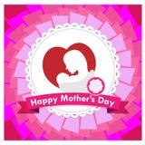 Счастливый вектор дня матери Стоковое Фото