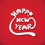 Счастливый вектор текста Нового Года Стоковое Фото