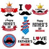 Счастливый вид шрифта дня отцов винтажный ретро Стоковые Изображения RF