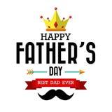 Счастливый вид шрифта дня отцов винтажный ретро иллюстрация вектора