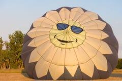 Счастливый воздушный шар стороны Стоковые Фотографии RF