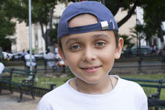Счастливый городской мальчик Стоковое Фото