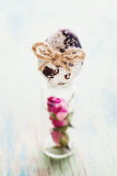 Счастливый год сбора винограда пасхи и естественная открытка стиля Стоковые Фотографии RF
