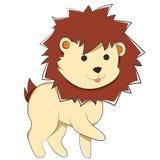 Счастливый лев младенца шаржа иллюстрация вектора