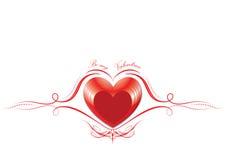 Счастливый день валентинки - красное сердце - предпосылка - поздравительная открытка Стоковые Изображения