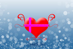 Счастливый день валентинки на предпосылке bokeh Стоковые Фотографии RF