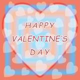 Счастливый день валентинки с предпосылкой сердца Стоковые Изображения