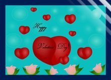 Счастливый день валентинок! иллюстрация штока