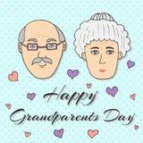 Счастливый день дедов! Поздравительная открытка вектор иллюстрация штока