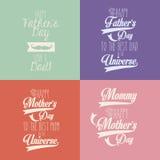 Счастливый день матерей и отцов Стоковое Фото