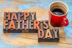 Счастливый день отца в деревянном типе Стоковое фото RF