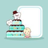 Счастливый день отца с зубами Стоковое Изображение