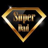 Счастливый день отцов, супер поздравительная открытка папы с супергероем иллюстрация вектора