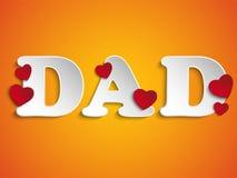 Счастливый день отцов с предпосылкой сердца бесплатная иллюстрация