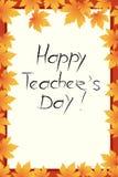 Счастливый день учителей иллюстрация вектора