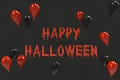 Счастливый день хеллоуина в черной предпосылке Стоковое Изображение