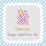 Счастливый день card7 валентинки s Стоковая Фотография RF