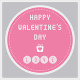 Счастливый день card17 валентинки s Стоковая Фотография RF