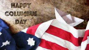 Счастливый день columbus стоковое изображение rf