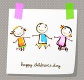 Счастливый день ` s детей Стоковая Фотография RF