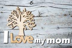 Счастливый день ` s матери, я люблю мою маму Стоковое Изображение RF