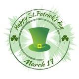 Счастливый день ` s Патрика Круглый зеленый штемпель, уплотнение Стоковые Фотографии RF