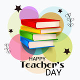 Счастливый день ` s учителя иллюстрация вектора
