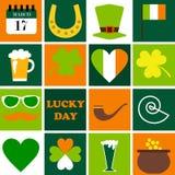 Счастливый день St. Patrick установленные иконы праздников Стоковая Фотография