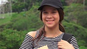 Счастливый женский предназначенный для подростков студент Стоковые Изображения