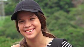 Счастливый женский смеяться над предназначенного для подростков или людей Стоковые Изображения RF