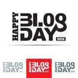 Счастливый знак дня блога Стоковая Фотография RF